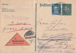 DR NN-Ganzsache Zfr. Minr.392 Zeuthen 23.9.29 - Deutschland