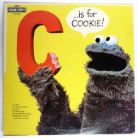 RARE Disque Vinyle 33T SESAME STREET - IS FOR COOKIE ! - CRA CTW 22058 1974 RUE SESAME - Disques & CD