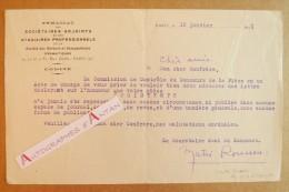 L.T.S 1931 Matei ROUSSOU Syndicat De La Sté Des Auteurs & Compositeurs à Marcelle Maurette Lettre Tapuscrite Kichinev - Autographes