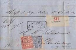 NDP Brief Mif Minr.4, 5 R3 Münden Bei Göttingen 10.3.gel. Nach Lautergerg - Norddeutscher Postbezirk