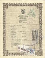 PAKISTAN 1992 EMERGENCY PASSPORT WITH BAHRAIN 40 DARHAMS REVENUE STAMP ISSUED BY PAKISTAN EMBASSY (BAHRAIN) - Historische Documenten
