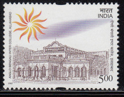 India MNH 2002, Anglo Bengali Inter College, Allahabad, Education, Sun Fire Symbol, Astronomy, Architecture, Cycle, - Inde