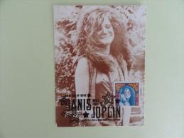 CARTE MAXIMUM CARD JANIS JOPLIN ETATS-UNIS - Cantanti