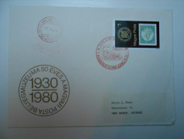 HUNGARY FDC - SALE 1980. Stampmuseum Stamp On FDC - FDC