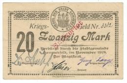 Allemagne // Deutschland //  Stadt Sommerfeld   Kriegs-Geld 20 Mark (zwanzig Mark) - [11] Emissions Locales