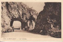 LA SCHLUT (Vosges-88) Le Tunnel - Carte Animée - Voiture Et Personnages