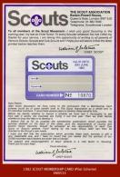 """EM0533 EM0533a  Membership Card (1982) """"Scouts..."""" - Scouting"""