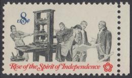 !a! USA Sc# 1476 MNH SINGLE W/ Right Margin - Bicentennial: Pamphleteer - Etats-Unis