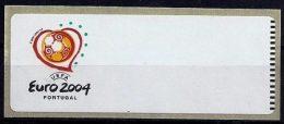 LSJP Portugal 2004 - UEFA Euro - ATM Labels CROUZET No Face Value MNH - Vignettes D'affranchissement (ATM/Frama)