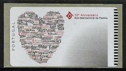 LSJP Portugal 2004 - International Year Of Family Ano Internacional Familia - ATM Labels No Face Value - Vignettes D'affranchissement (ATM/Frama)
