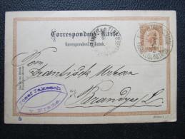GANZSACHE Prag Elisabethstrasse - Brandys Fa.Josef Jakesch 1892  /// D*17381 - 1850-1918 Imperium