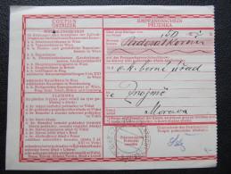 GANZSACHE Empfangsschein Plavec Platsch B. Znaim   /// D*17383 - Briefe U. Dokumente