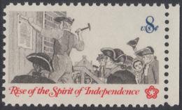 !a! USA Sc# 1477 MNH SINGLE W/ Right Margin - Posting A Broadside - Etats-Unis