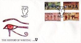 Venda - 1984 History Of Writing FDC # SG 87-90 , Mi 86-89 - Venda