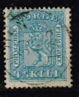 Norwegen 1863, Michel# 8 O - Norvège
