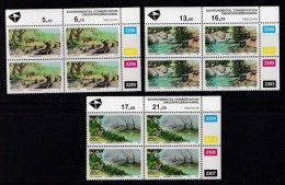 SOUTH AFRICA, 1992, MNH Control Block Of 4, Environment, M 831-833 - South Africa (1961-...)