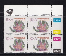 SOUTH AFRICA, 1993, MNH Control Block Of 4, Succulent Standard, M 864 - South Africa (1961-...)