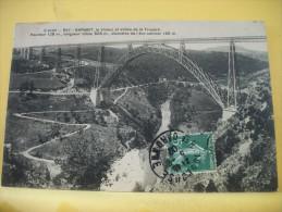 15 46 - CPA - GARABIT - LE VIADUC ET VALLEE DE LA TRUYERE HAUTEUR 125m, LONGUEUR...  - 1908 - (VOIR SCANS RECTO VERSO) - France