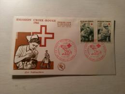 ENVELOPPE - FDC - La Croix Rouge Et La Poste - 10/12/1966. - 1960-1969