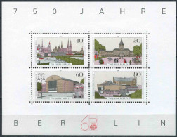GERMANY / WEST BERLIN 1987 - 750th Anniv. Of Berlin, Miniature Sheet, MNH (**) - Blocks & Sheetlets