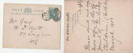 1905 GB KENSINGTON FOLKLORE Society POSTAL STATIONERY CARD Kensngton Duplex  Pmk Evii E7 Stamps Cover - Entiers Postaux