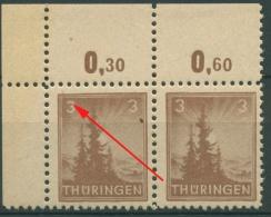 SBZ Thüringen Freimarke Mit Plattenfehler 92 AX At II Postfrisch - Sowjetische Zone (SBZ)