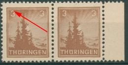 SBZ Thüringen Freimarke Mit Plattenfehler 92 AY Az1 I Postfrisch - Sowjetische Zone (SBZ)
