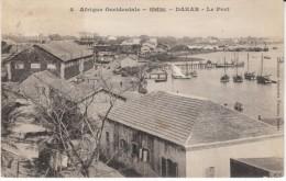 Dakar Senegal, View Of Harbor Port Harbour, Waterfront Scene, C1900s Vintage Postcard - Senegal