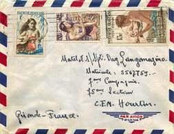 1959 Lettre Avion Pour La France  Yv 3, 11  Et PA 1 - Polynésie Française