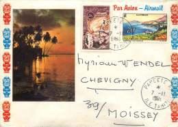 1968  Lettre Avion Pour La France  Yv 28, 34 - Polynésie Française