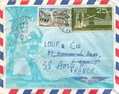 1968  Lettre Avion Pour La France  Yv 47, PA 11 - Polynésie Française