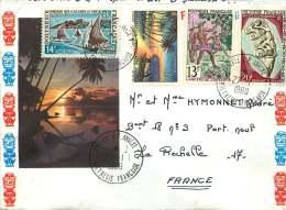 1969  Lettre Avion Pour La France  Yv 30,39, 48 Et 54 - Polynésie Française