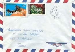 1971  Lettre Avion Pour La France  Yv 64, 82 - Polynésie Française