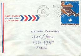 1976  Lettre Avion Pour La France  Yv PA 111 Jeux Olympiques De Montréal 34Fr - Polynésie Française