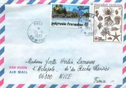 1993  Lettre Avion De  Paea   Pour La France  Yv  393, 399, - Polynésie Française