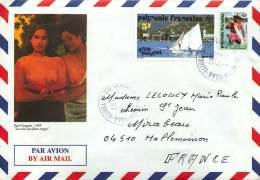 1993  Lettre Avion  Pour La France  Yv 403, 427 (de Carnet) - Polynésie Française