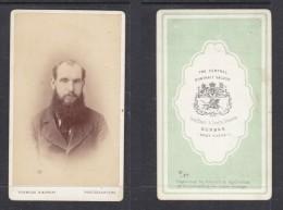 Carte De Visit; , Photo , S.Africa, KERMOND & MURRAY, Durban, Beared Gentleman - Anonymous Persons