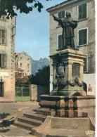 Vico : Statue De Casanelli D'Istra (bronze Par Vital Dubray) Au Fond La Sposata (n°20/348/64 La Cigogne) - Sonstige Gemeinden