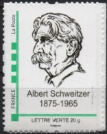 FRANCE 2015 Timbre Personnalisé MonTimbraMoi MTAM SCHWEITZER 50ème Anniversaire Mort COLMAR  Nobel - Albert Schweitzer