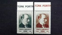 Türkei 2862/3 A **/mnh, Kemal Atatürk (1881-1938), 1. Staatspräsident - 1921-... Republic