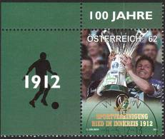 AUSTRIA ÖSTERREICH 2012 100 Jahre SV Ried  USED / O / GESTEMPELT - 1945-.... 2de Republiek