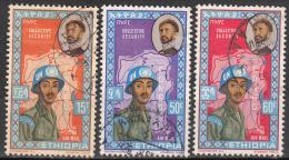 Ethiopia    Scott No.  C71-73      Used     Year  1962 - Ethiopie