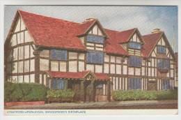 Old Postcard, Stratford Upon Avon, Shakespeare's Birtplace (pk23026) - Stratford Upon Avon