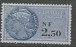 FISCALE  N� 337 NEUF ** LUXE SANS CHARNIERE / MNH