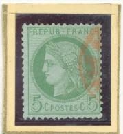 N°53 CACHET A DATE ROUGE. - 1871-1875 Cérès