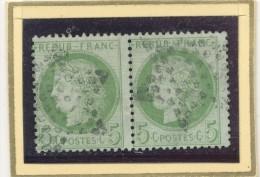 N°53 PAIRE  NUANCE OBLITERATION . - 1871-1875 Cérès