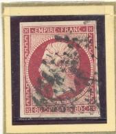 N°17 CARMIN FONCE LOSANGE GRANDS CHIFFRES. - 1853-1860 Napoléon III.