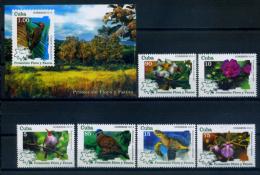 Cuba 2014 / Flowers Birds Turtles Protection MNH Protección De La Fauna Y La Flora / C8633   10 - Nuevos