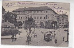 Leipzig - Börse - 1912 Strassenbahn Linie 1 - Leipzig