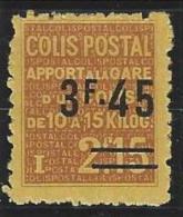 """FR Colis Postaux YT 148 """" Apport à La Gare 3F45 S. 2F15 Brun """" 1938 Neuf* - Paketmarken"""